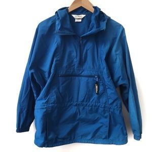 LL Bean Mountain Classic Anorak Jacket Blue Medium